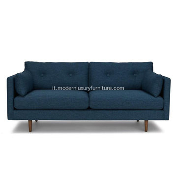 Anton Twilight Blue Fabric Sofa